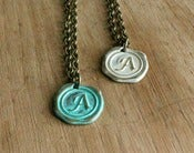 Image of A- E Letter Initial Necklaces