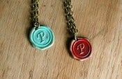 Image of P -T Alphabet Initial Necklace