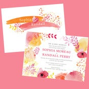 Image of Watercolor Garden Wedding Invitation Suites