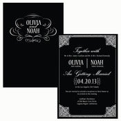 Image of Hollywood Indulgence (Art Deco Inspired) Invitation Wedding Suite