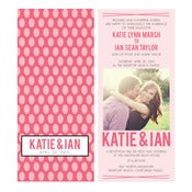 Image of Pretty in pattern: Ikat Invitation Wedding Suite