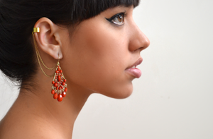 Image of Gold tone ethnic earcuff