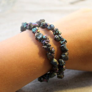 Image of Raw Rainbow Crystal Bracelet