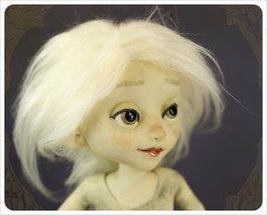 Image of SOLD - Powder Moon - Luna Lady Doll by the Filigree