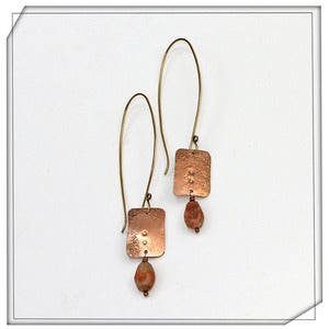 Image of Sheet and Stone Earrings