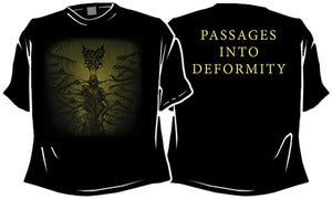 Image of T-Shirt Passages Into Deformity - Cover Art