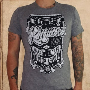 Image of promises to keep - grey - discharge inks - mens &amp; womens
