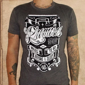 Image of promises to keep - brown - discharge inks - unisex