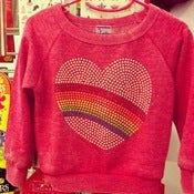 Image of Raglan Heart Sweatshirt