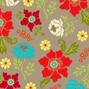 Image of Grey Large Floral from Summer House  5983-99