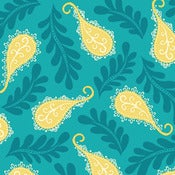 Image of Aqua Paisley from Summer House 5986-11