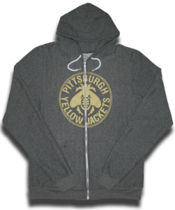 Image of Pittsburgh Yellow Jackets premium Flex Fleece unisex zip up hoodie (American Apparel)