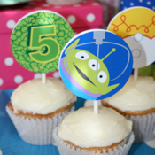 Image of Printable Buzz Lightyear, Woody, Jessie Toy Story Cupcake Toppers and friends