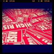 Image of Red Bar Stickers