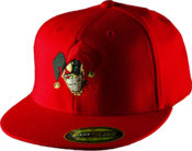 Image of Flexfit Fitted Flat Bill Hat - All Red