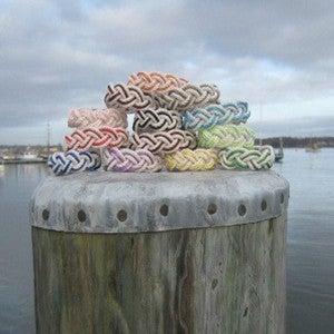 Image of Medium Sailor Knot Rope Bracelet with Satin Stripe