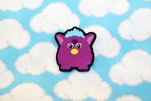 "Image of 1.5"" furby pin"