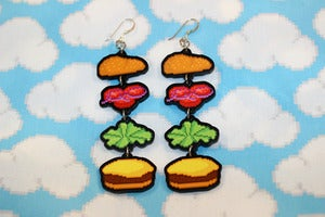 Image of burger earrings