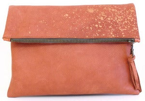 Image of Clara Leather Foldover Clutch