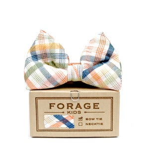 Image of spring plaid {KIDS bow tie}