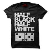 Image of Half Black/Half White Domino Shirt