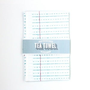 Image of Organic Cotton Tea Towel - School House Lines