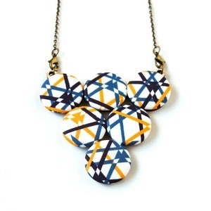 Image of Primary Pop Geometric Lines Statement Necklace