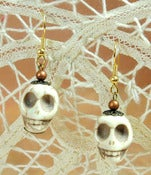 Image of Stone Skull Earrings