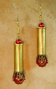 Image of Bullet Case Pearl Earrings