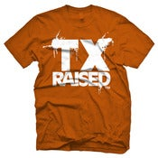 Image of Texas Raised - TX Orange &amp; White