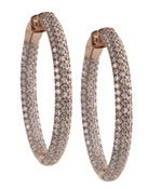 Image of Kara Ackerman <i>Talulah <i/> Medium Vermeil Micro Pave Set Hoops in Rose