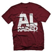 Image of Alabama Raised - AL Crimson &amp; White 