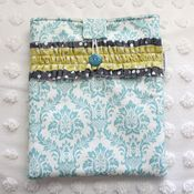 Image of ipad case - turquoise damask 