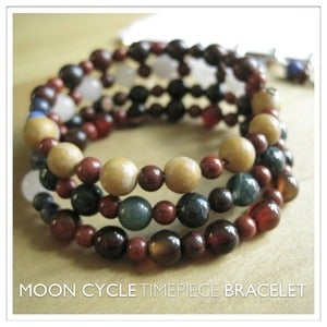 Image of Moon Cycle Timepiece Bracelet | Stone | One of a Kind | #1229