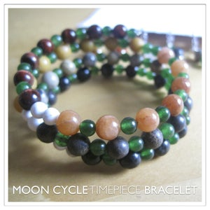 Image of Moon Cycle Timepiece Bracelet | Stone | One of a Kind | #1231
