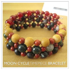 Image of Moon Cycle Timepiece Bracelet | Stone | One of a Kind | #1307