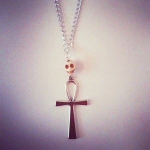 Image of Ankh & Skull Necklace