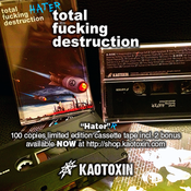 Image of TOTAL FUCKING DESTRUCTION &quot;Hater&quot; ltd ed TAPE