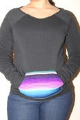 Image of Ladies cutoff sweater (black)