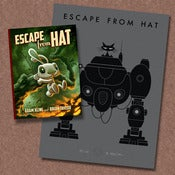 Image of Signed &quot;Escape from Hat&quot; Book and Letterpress Print