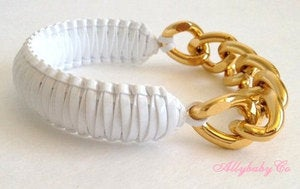 Image of White Chain Bracelet