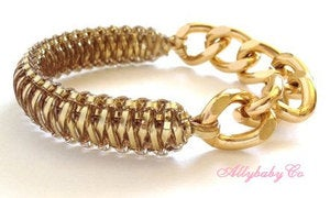 Image of Gold Chain Cobra Bracelet