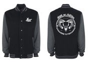 Image of 'Born To Fight' Varsity Jacket (Black and Charcoal)