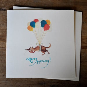 Image of Birthday Card ~ The Balloon Dog