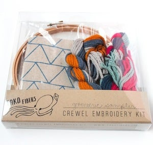 Image of Geometric Sampler Crewel Embroidery Kit