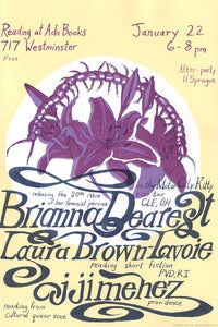 Image of Brianna Dearest + Others, gig poster