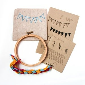 Image of Tiny Banners Crewel Embroidery Kit