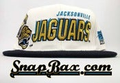 Image of Vintage Deadstock Jacksonville Jaguars Sports Specialties Shadow Snapback Hat Cap
