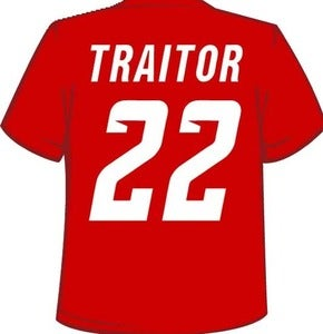 Image of Red Wings Suck - 22 is a Traitor