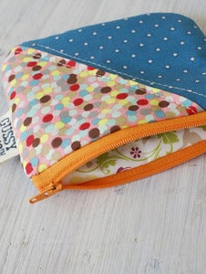 Image of Stars + Confetti square zipped pouch
